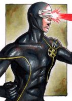 Cyclops II - X-Men Sketch Card by J-Redd