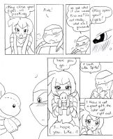 tmnt valentine special pg8 by WolffangComics