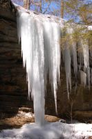 Old Man's Cave - Ice Falls by cionbird