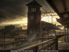 Evening Over Broad Street by The-Nightshift