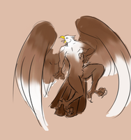 Were-eagle concept by SpookyBjorn