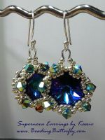 Supernova Earrings by beadg1rl