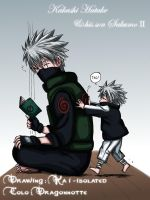 Kakashi and his son by Dragonnotte
