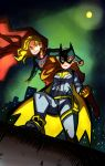 Batgirl + Supergirl by littlefoxproductions