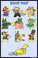 Gamer Pikas by bwingbwing
