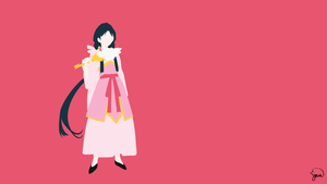 Hakuei Ren (Magi) Minimalist Wallpaper by greenmapple17