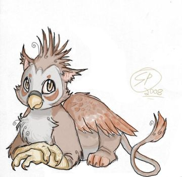 Baby Gryphon.. ChirpKitty. by Kyun-Kun