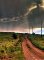 Stormy Country Road by Gypsy-