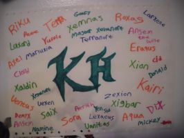 Kingdom Hearts Drawing - All Characters Names by TheCoolCosplayer22