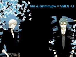 Gin and Grimmjow wallpaper by ClairBear
