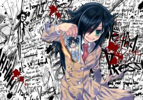 Watamote Tomoko Kuroki by Nick-Ian