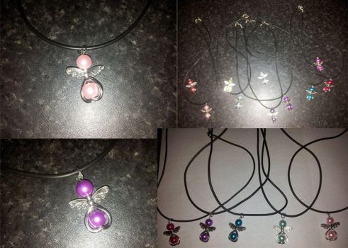 angel charm necklaces by SHAWTYBOOSTER