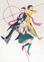 Dangan Ronpa Trio by reddii