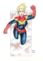 Captain Marvel (Carol Danvers) by ibroussardart