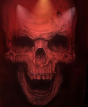 Airbrush 57 skull by hofku43