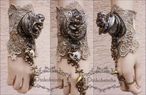 Amourus watch cuff by Pinkabsinthe