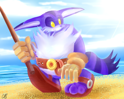 One Hour Sonic: Big the Cat by Chicaaaaa