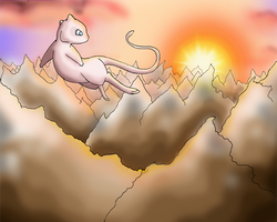Legendary Sunset Mew by -kiara-