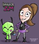 Victoria and GIR by ScoBionicle99