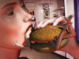 Woman Burger Part 2 by GTSvorelover42