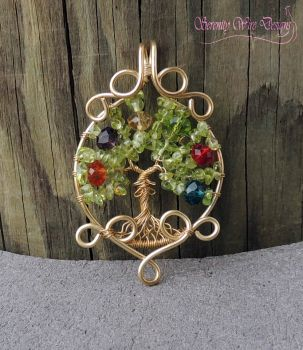 Legend of Zelda Tree of Life Pendant by SerenityWireDesigns