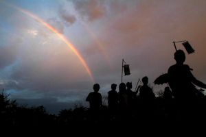 parade and rainbow by hersley