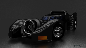 Batmobile Blender Render by Gvs-13