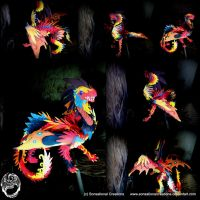 Red and Back Dragon Sculpture - SOLD by SonsationalCreations