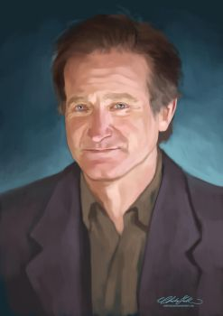 Robin Williams by ChristinZakh