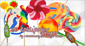 30 lollipops PNG textures by revallsay