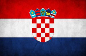 Croatia Grunge Flag by think0