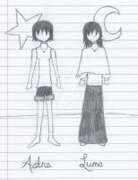 Astra and Luna, 7th grade, 2006/2007 by littlewaysoul