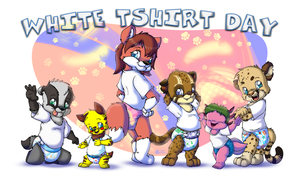 Happy White Tshirt Day by Tavi-Munk
