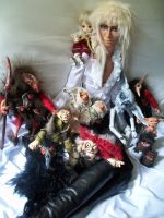 toby with the goblin king and his horde of goblins by Dollysmith