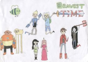 Bravest Warriors and Adventure Time by Ma-Mona