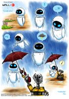 Wall-E fanfic art: Umbrella by rinacat