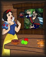 Snow White and Bowler Hat Guy by andy-pants