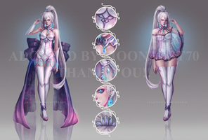 Adoptable Auction - Dark Opal [CLOSED] by serafleur