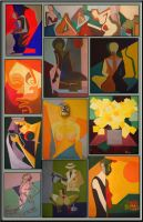 A cicle of paintings by delira