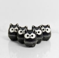 Cosmic Owl Figurines by RamalamaCreatures