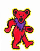 Grateful Dead Bear by arevolutionarydevice