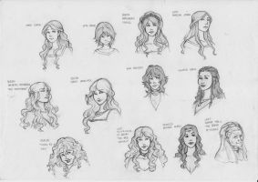 ASOIAF - The ladies by Dailan