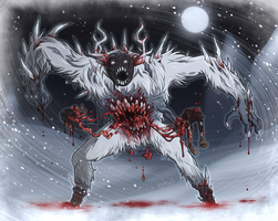 Commission - Wendigo by blinkpen
