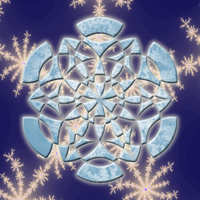 Frosted Snowflake by playful-geometer