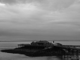 Old burnt out pier by PhotographicJaydiee