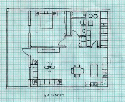 Simple Country Home Basement by Raiderhater1013