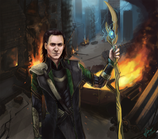 Loki - God of Fire by elz-art
