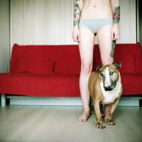 Nergal. Blind dog. by A-Finch