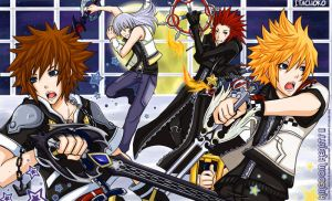 kingdom hearts 2 print: 2007 by jurieduty