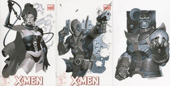 Sketch Covers 1 Thru 3 by ChristopherStevens